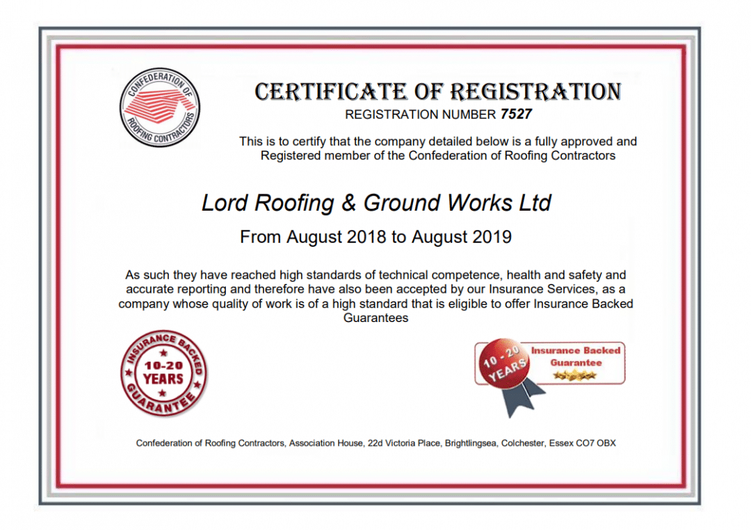 Accreditation S Warranties Lord Roofing