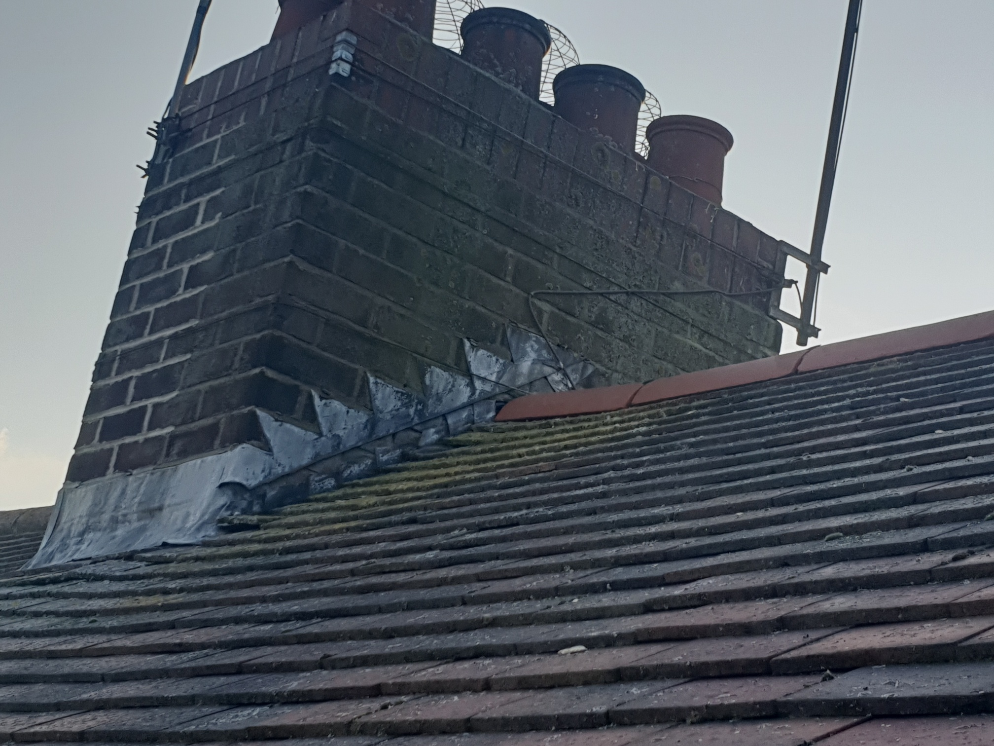 Chester Le Street Dry Ridge Chimney Stack Lead Flashings And Firestone Edpm Bay Top And Flat Roof Project Lord Roofing