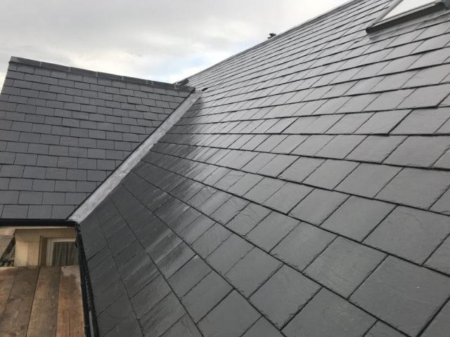 Grade 1 Spanish Slate Re Roof Velux Window Installation