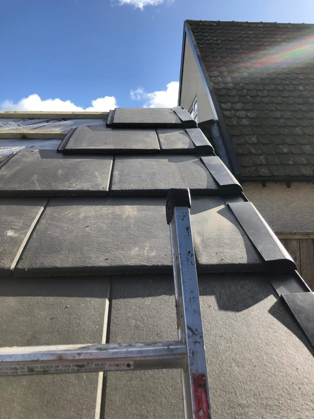 Darlington Garage Pitched Re Roof Project New Premium