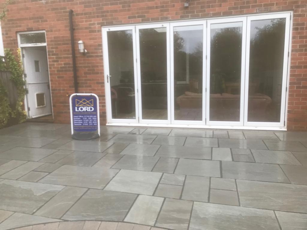 Gosforth Indian Sandstone Patio And New Wall Build Project