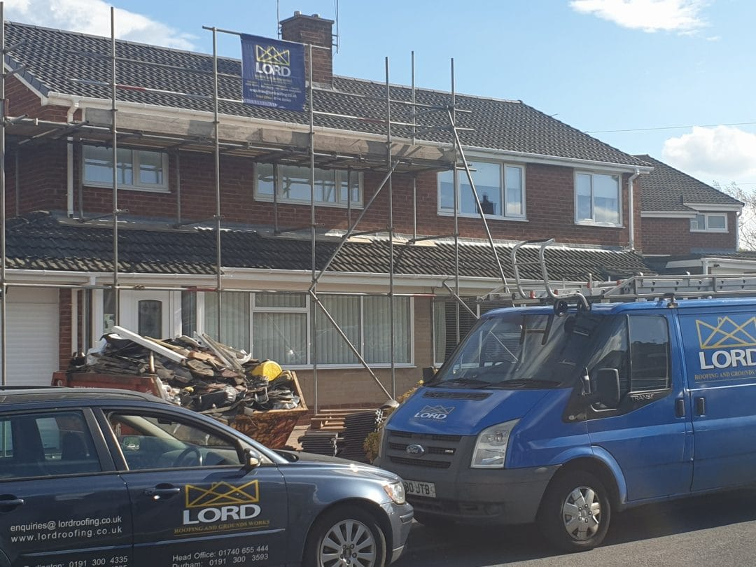 Bishop Auckland Triple Consecutive Neighbours Re Roofs In