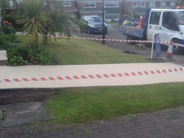 Sunderland Summer Beach Resin Bound Driveway Project