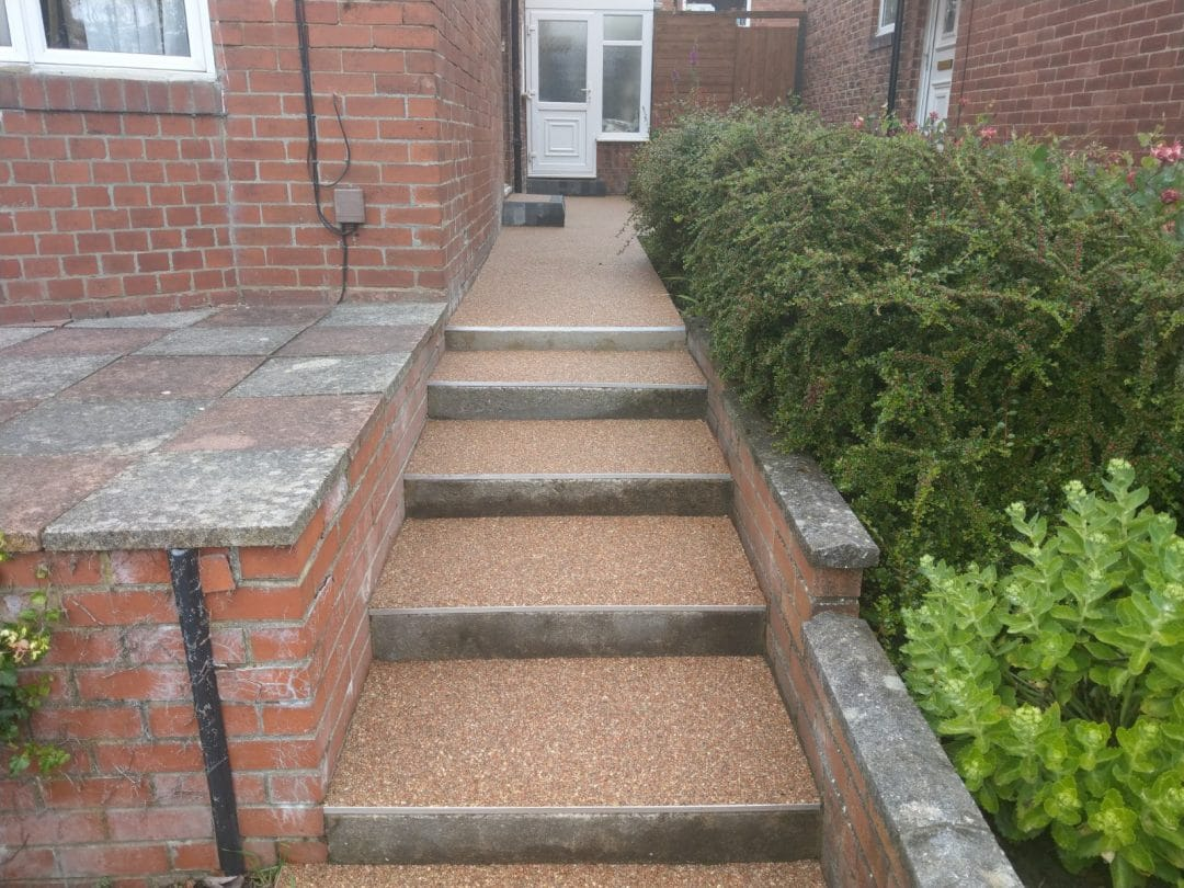 Gateshead Evening Rose Resin Bound Pathway And New Steps