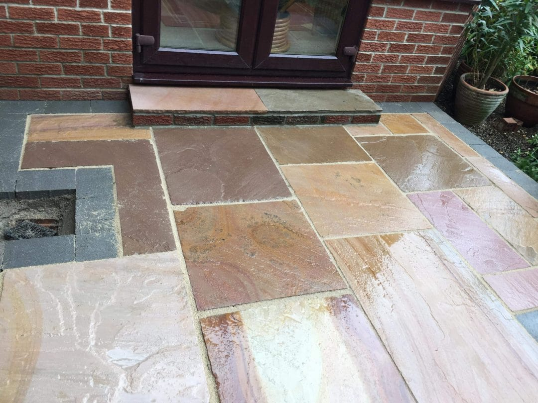 Benton Newcastle Indian Stone Patio And Pathway Project